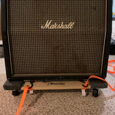 1973 Checkerboard-Era Marshall 1960A 4x12 300-Watt Angled Guitar Speaker Cabinet