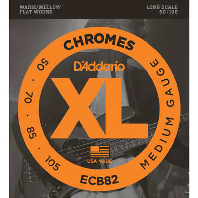 D'Addario ECB82 Chromes Bass Guitar Strings Medium 50-105 Long Scale