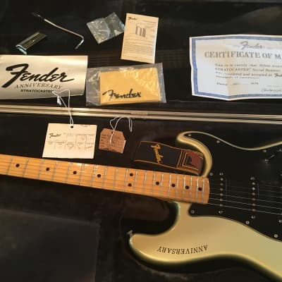 Fender 25th Silver Anniversary Stratocaster 1954-1979 Silver for sale
