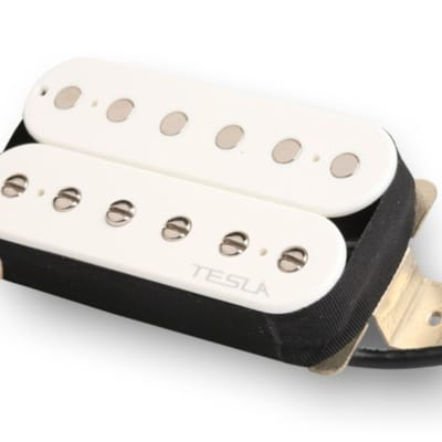 Tesla VR3 Humbucker Guitar Pickup - Bridge / White