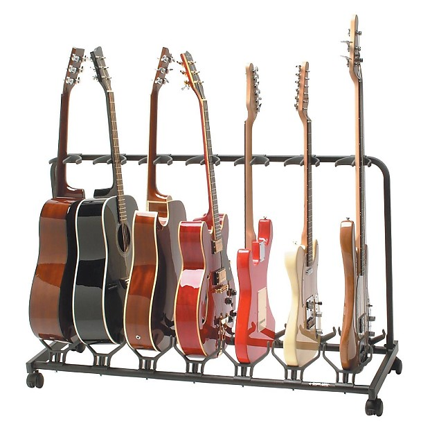 quiklok 5 slot electric acoustic guitar stand reverb. Black Bedroom Furniture Sets. Home Design Ideas
