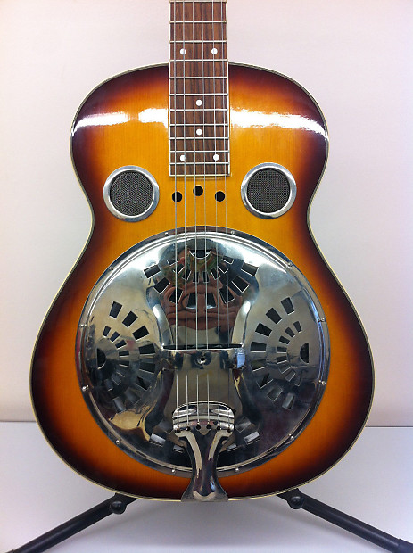 Regal Square Neck Dobro Guitar Brown Sunburst Reverb