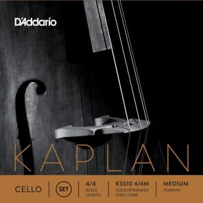 D'Addario KS510 4/4M Kaplan 4/4 Cello Strings - Medium Tension