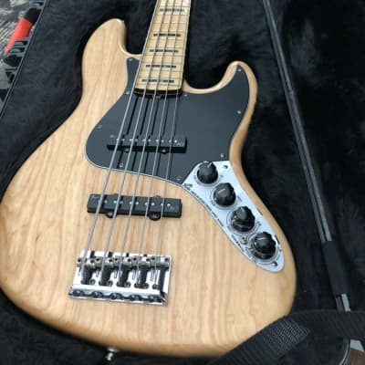 Fender American Deluxe Jazz 5 String 2014 Natural Ash, Maple fingerboard. for sale
