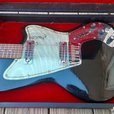 Vintage 1967 Coral (Danelectro) Vincent Bell Scorpion Electric 12 String Guitar w/ Original Hardshell Case! for sale
