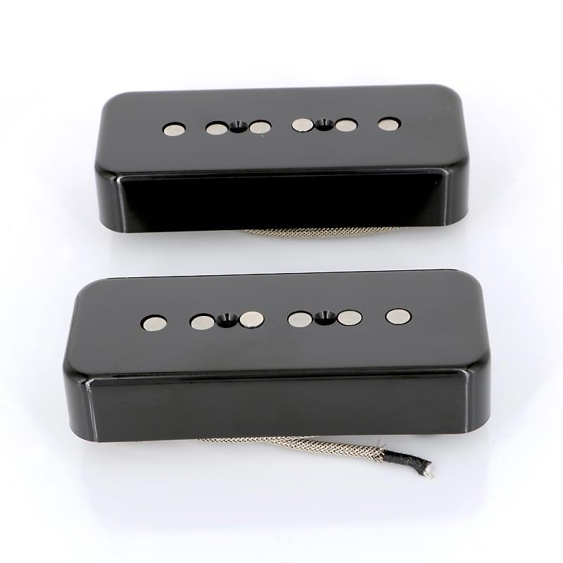 lindy fralin p90 soapbar pickups alnico pole pieces black reverb. Black Bedroom Furniture Sets. Home Design Ideas