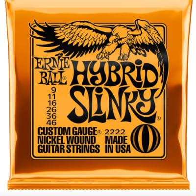 Ernie Ball Guitar Strings Hybrid Slinky 9-46 Nickel Wound Electric 2222