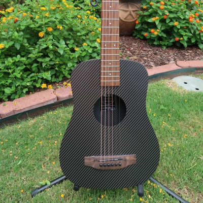 Klos DELUXE Acoustic / Electric Carbon Fiber Travel Guitar 2018 Burlywood