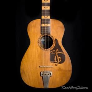 Vintage 1940s or 50s Supertone The Prep Acoustic Guitar for sale