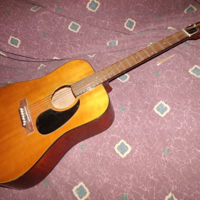 Vintage early 1970s Orlando Japan Acoustic Guitar D-18-style for sale
