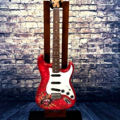 Fender   Fender Stratocaster Special Edition  Dave Lozeau 2016 Red/Sacred Heart for sale