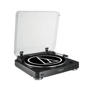 Audio-Technica AT-LP60USB Black Fully Automatic Belt Driven Turntable with USB