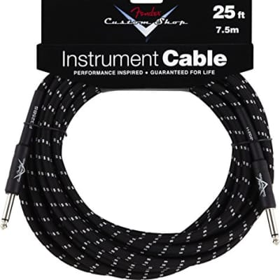 """Fender Custom Shop Performance Series Cable (Straight-Straight Angle) for electric guitar, bass gui"