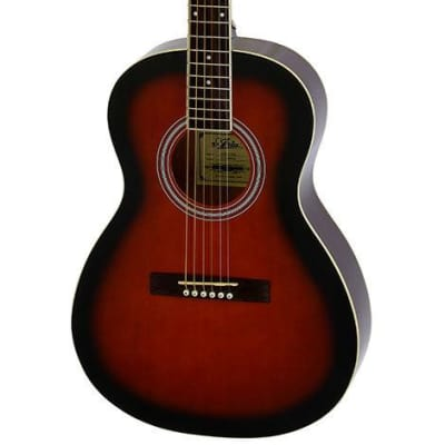 Aria AP-15 Parlour Acoustic Guitar in Brown Sunburst for sale