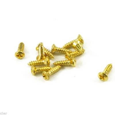 #3 GIBSON PICKGUARD SCREWS GOLD ( 12pc) FITS LES PAUL,FIREBIRD,FLY V,EXPLORER