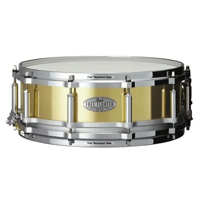 """Pearl FTBR1450 Free-Floating 14x5"""" Brass Snare Drum"""