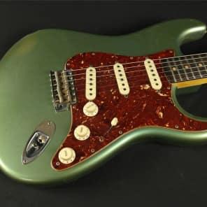 Fender Custom Shop Masterbuilt 60's Journeyman Relic Stratocaster - Green Ice Blue Metallic by Greg Fessler for sale