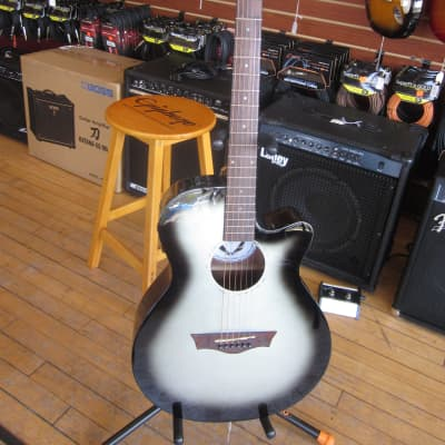 Dean AXS Performer Cutaway A/E Acoustic Guitar  Silver Burst ax pe svb