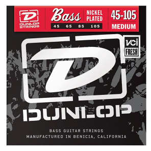 Dunlop DBN45105 Nickel-Wound Stainless Steel Bass Strings (45-105)