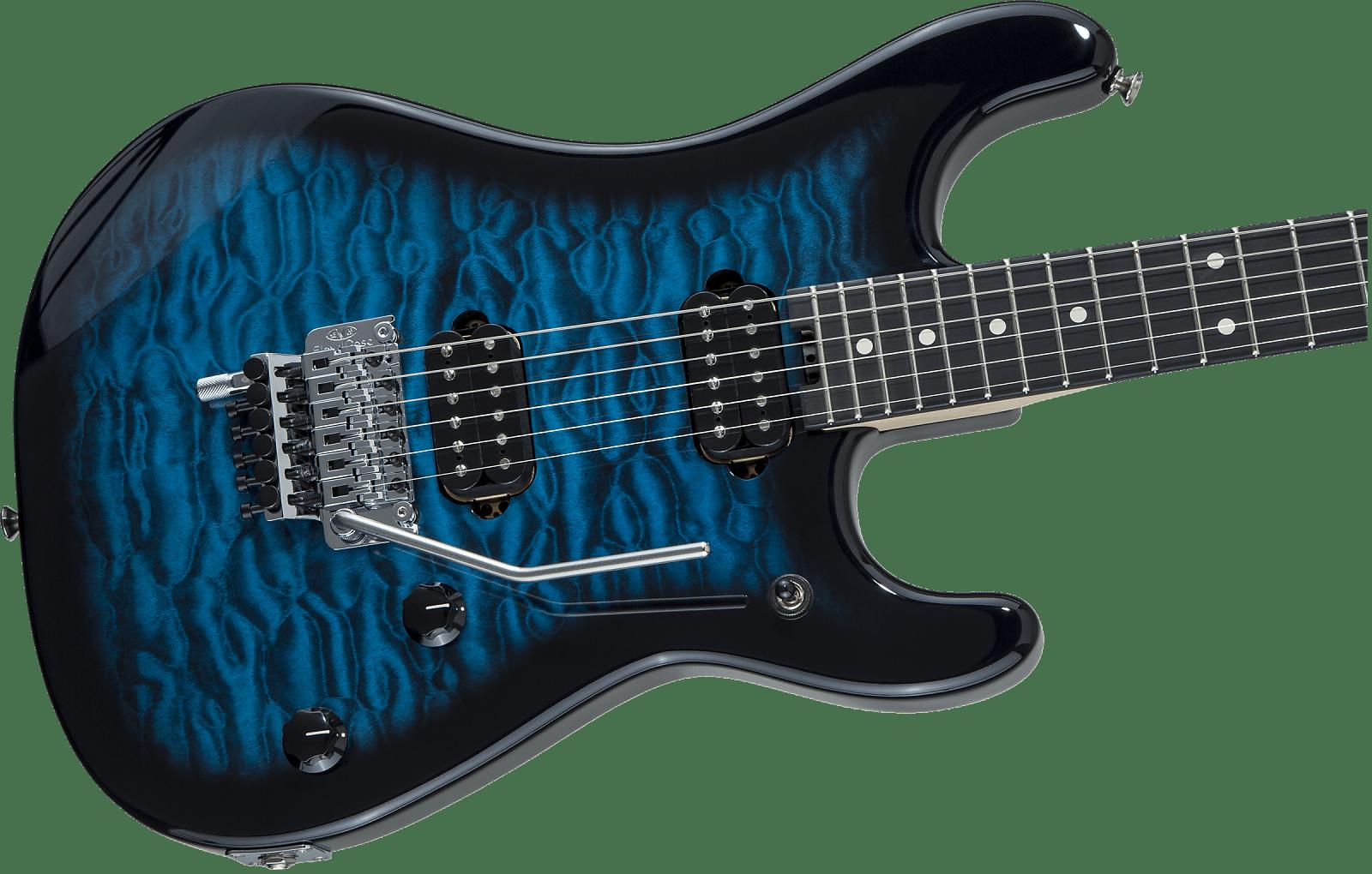 New 2019 Evh 5150 Series Deluxe Model Blue Burst Ebony Board Eddie Van Halen Authorized Dealer