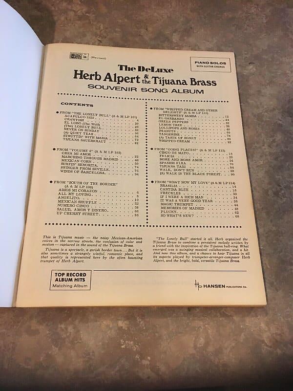 Herb Alpert The Deluxe Herb Alpert & The Tijuana Brass Souvenir Song Album,  songbook 1965