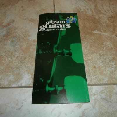 Vintage 1970 Gibson Classic Models Classical Guitar Catalog! C-6, C-2, C-1, C-0!