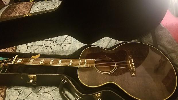 57e0e3caebb Gibson Limited Edition J-185 2016 Transparent Black