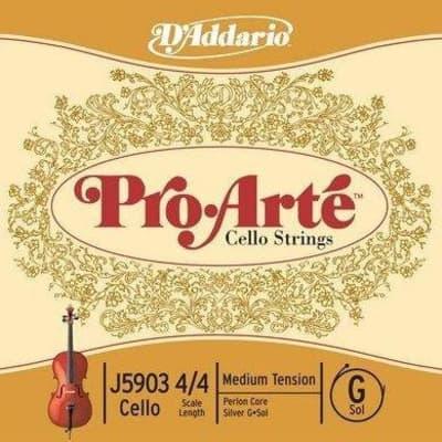 D'addario J5903-3/4M D'Addario Pro-Arte Cello Single G String, 3/4 Scale, Medium Tension
