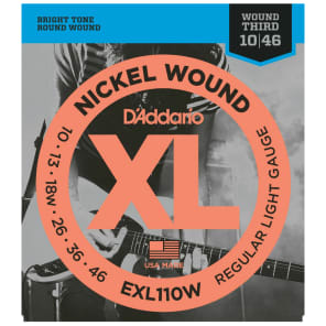 D'Addario EXL110W Electric Light Wound G 10-46