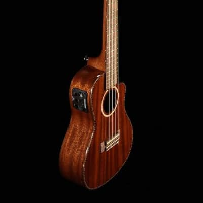 Lanikai MAS-CEC All Solid Mahogany Concert Ukulele Cutaway w/Electronics & Case for sale