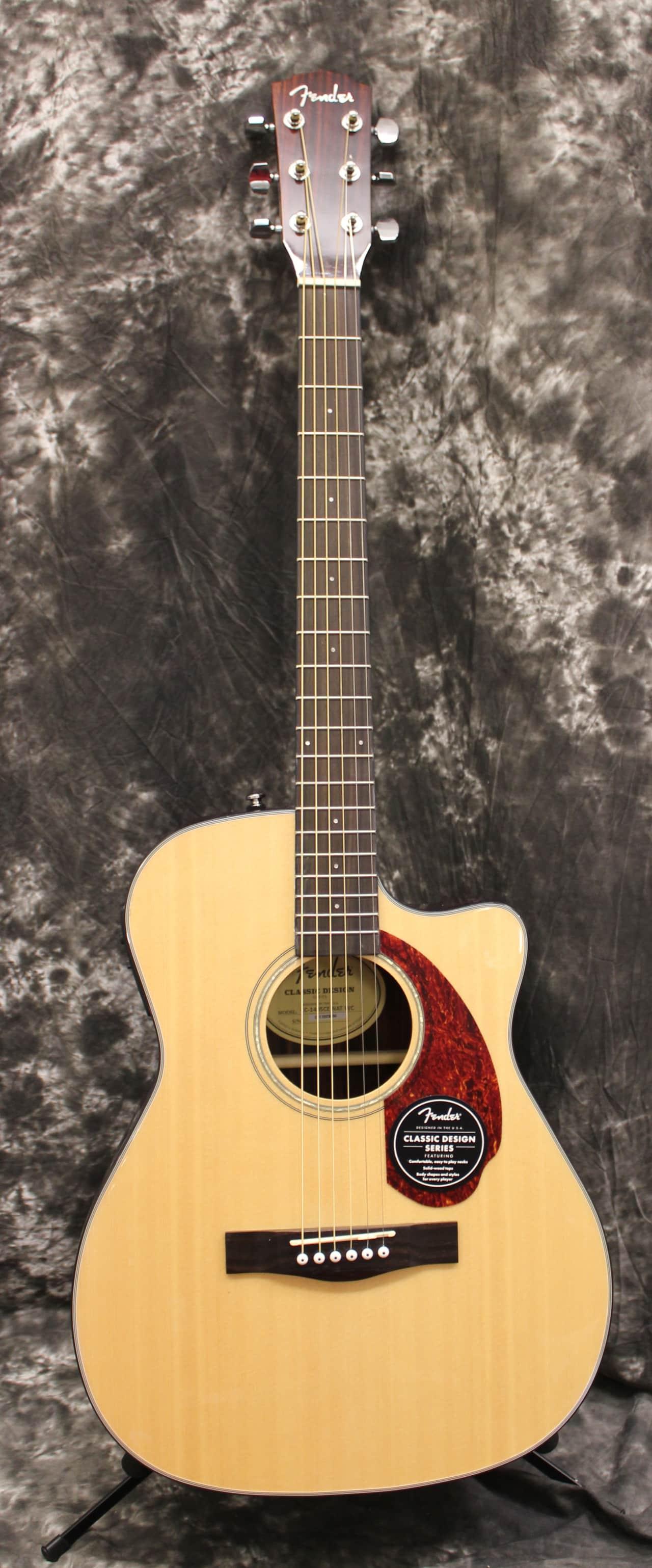 fender cc140sce solid top acoustic electric guitar natural. Black Bedroom Furniture Sets. Home Design Ideas