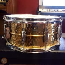 """Ludwig 6.5x14"""" Hammered Bronze Snare Drum 2010s image"""
