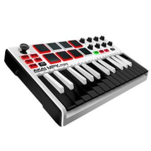 Akai MPK Mini MKII Compact Keyboard Controller in White