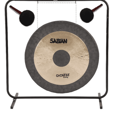"""Sabian 40"""" Chinese Traditionally Hammered 54001 Gong + 61006 Stand +Free Mallets 