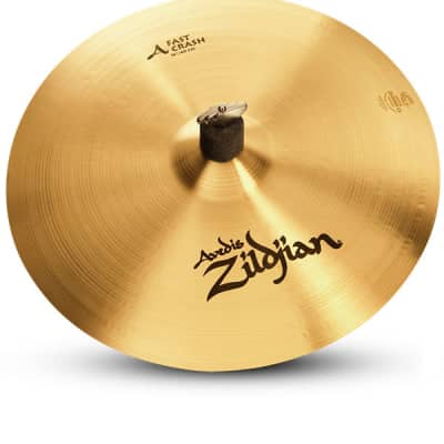 "Zildjian 16"" A Series Fast Crash Cast Bronze Drumset Cymbal with Low to Mid Pitch A0266"