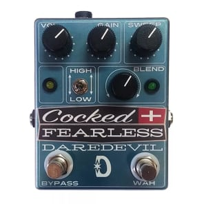 Daredevil Pedals Cocked and Fearless Distortion/Fixed Wah