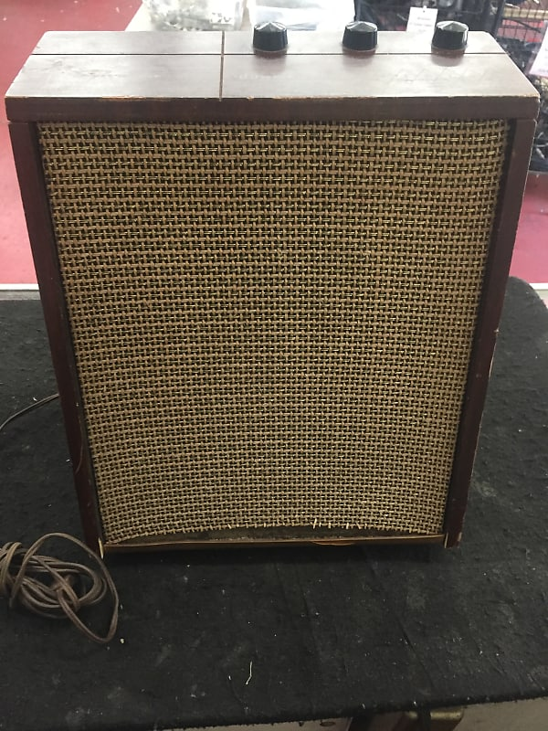 Sylvania Dual Stereo Tube Amp 1950's Mahogany
