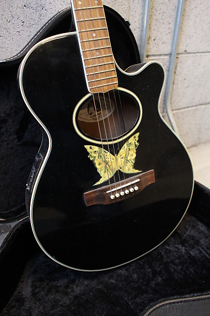 Central Auto Body >> Epiphone EO 2EB Electric Acoustic Guitar Butterfly | Reverb