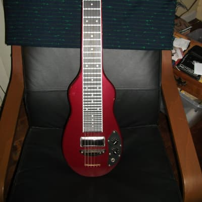 melobar 6 string lap steel guitar 1990's red for sale