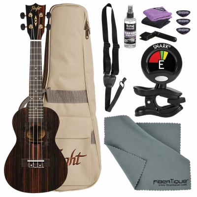Kremona Flight DUC460 Amara Concert Ukulele with Clip-on Tuner, Cleaning Accessories, and Basic Bundle for sale