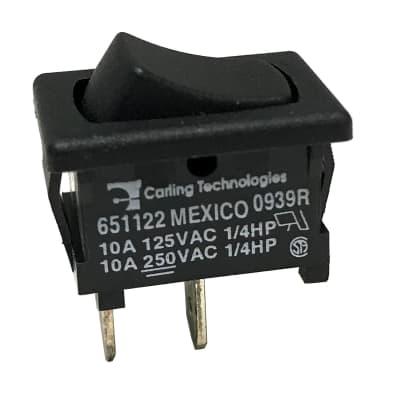 Amp Power Switch Rocker Carling On/Off 2 Tab Black Plastic