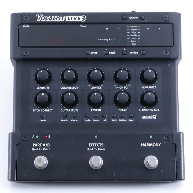 digitech vocalist live 3 vocal multi effects pedal p 05519 reverb. Black Bedroom Furniture Sets. Home Design Ideas