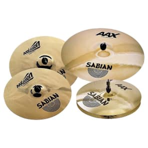 "Sabian 25005XB Raw Xplosion 14/16/21/18"" Cymbal Pack"