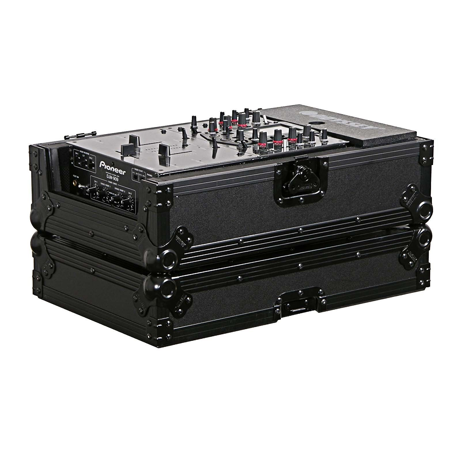 Odyssey Cases FZ12MIXBL New Black Label Flight Zone 12 Inch DJ Mixer Ata Case