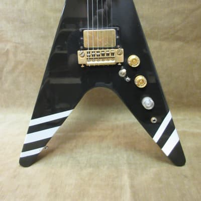 1981 O'Hagan Model 22 Flying V Black Neck Thru Gold Hardware Rare Model ! W/OHSC Free US Shipping! for sale