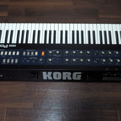 Korg PolySix ModyPoly MIDI Serviced Excellent Condition with Original Hard Case !