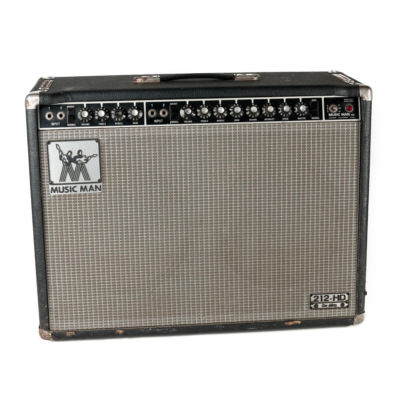 "Music Man 212-HD One Thirty 2-Channel 130-Watt 2x12"" Guitar Combo 1974 - 1979 | Reverb"