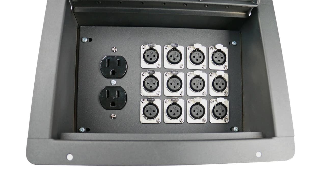 Elite Core Fbl12 Ac Recessed Stage Floor Box W 12 Xlr F