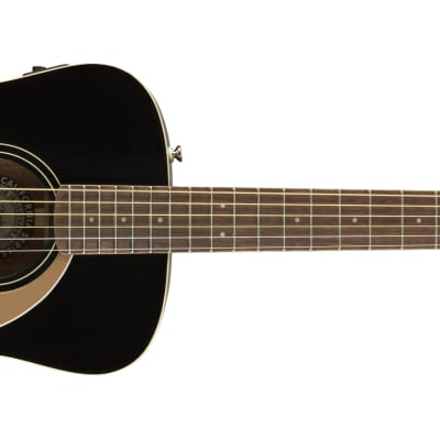 Fender Malibu Player Model Electric Acoustic Guitar in Jetty Black - SO COOL for sale