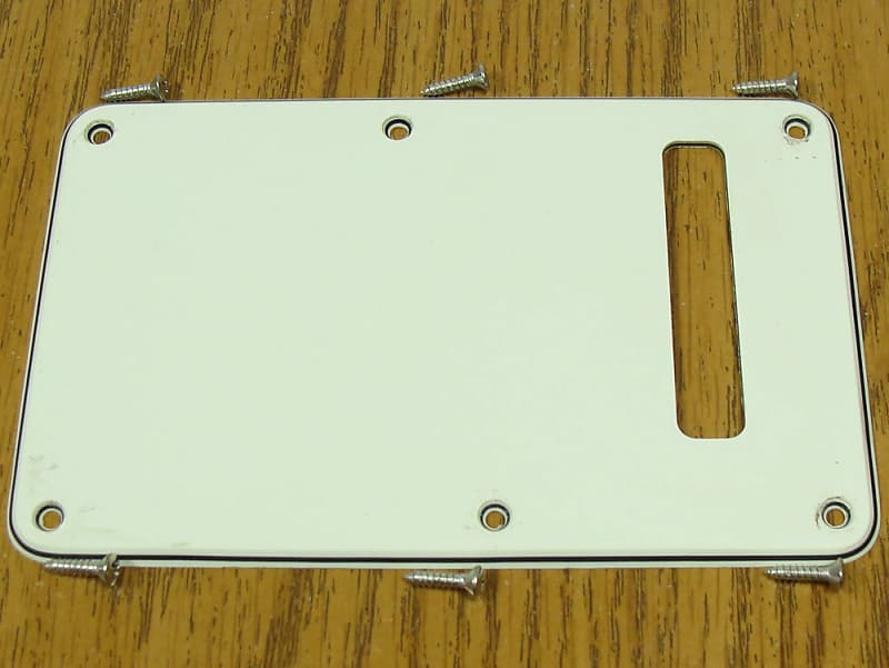 Fender American Special Stratocaster Strat TREMOLO COVER Upgrade Parchment  3 Ply